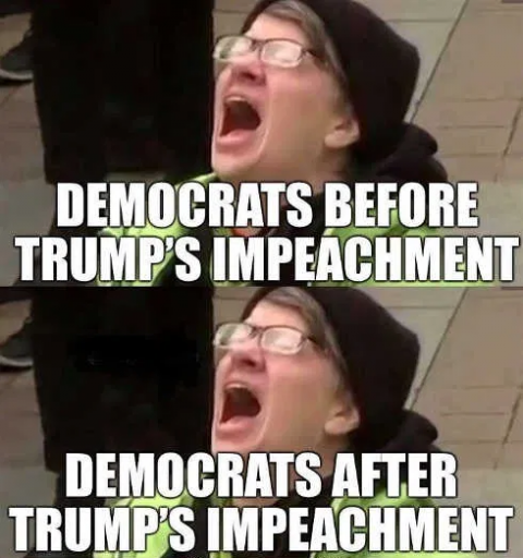democrats before after impeachment png
