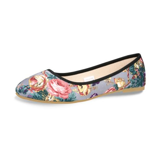 flat shoes for women with silver Grey  2  jpg