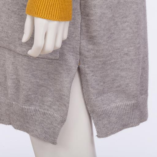 Cardigan Yellow Gray 6 jpg