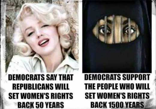 democrats say republicans set womens rights back but support muslims setting back thousands of years jpg