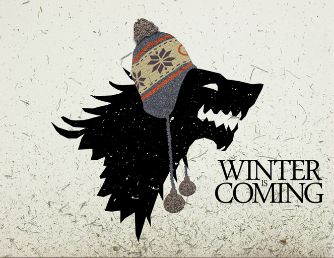 Game of thrones Winter is coming lhiver vient vite png