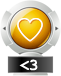 award heart gold png