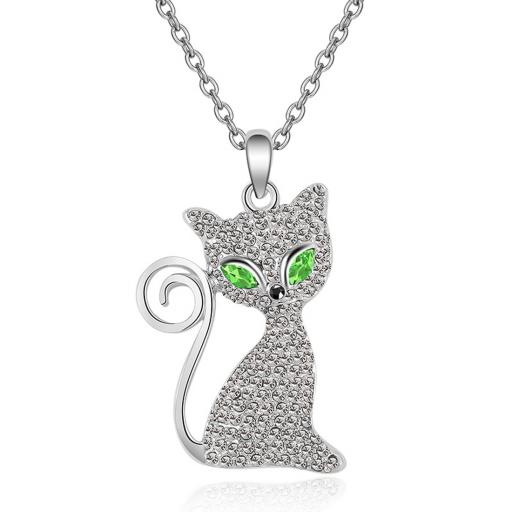 Cat Necklace Green jpg