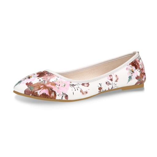 Flat shoes for women with white  2  jpg