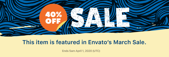 Envato March Sale 2020   Item Page Banner jpg