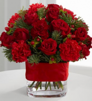 Bouquet in bright red PNG