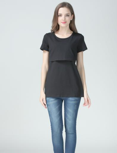 Maternity Shirt Maternity Tops black3 jpg
