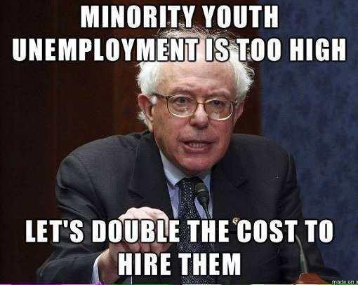 minority youth unemployment too high lets double cost to hire them bernie sanders jpg