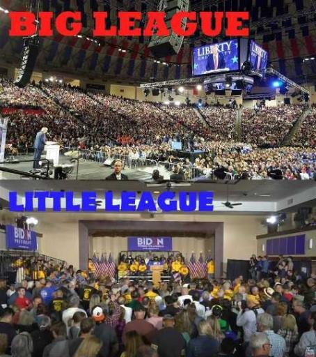trump vs biden crowd size big league vs little league jpg