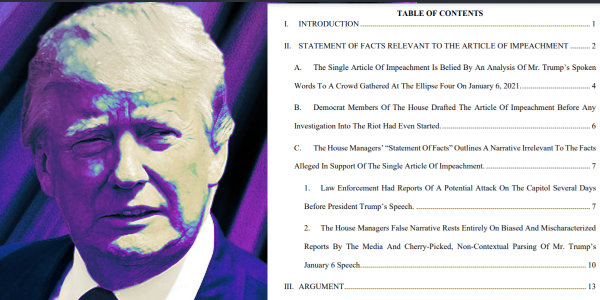 President Trump's lawyers released a 78-page memo on the hoax Impeachment Trial…