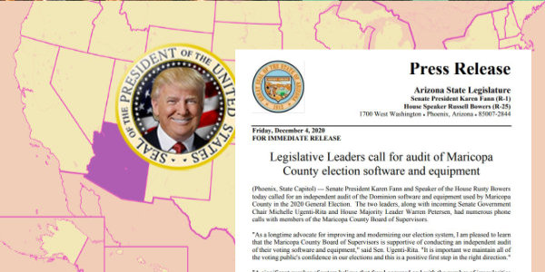 ARIZONA: Legislative Leaders call for an independent audit of Maricopa County Dominion software and equipment…