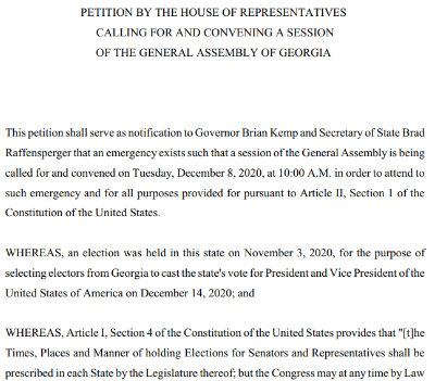 PETITION BY THE HOUSE
