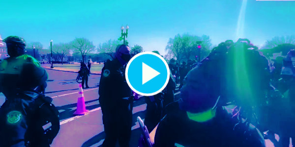 WATCH: Black Lives Matter At The Capitol Confront Police…