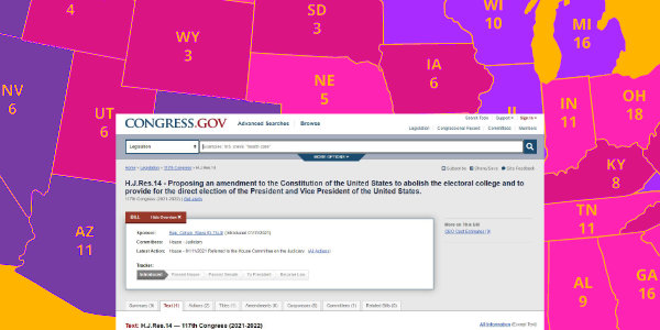 HOUSE Proposing an amendment to the Constitution of the United States to abolish the ELECTORAL COLLEGE…